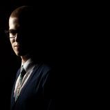 Depresja kluczowy pracowniany portret młody człowiek Zdjęcie Royalty Free
