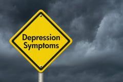 Depresja objawów znak ostrzegawczy zdjęcie royalty free
