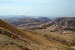 Depresja pustynne góry Synaj w Jordania Obraz Royalty Free