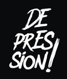 Depresja teksta typografia Obraz Royalty Free