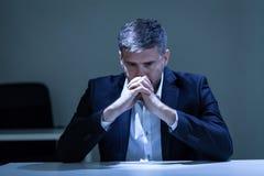 Depresja w biurze zdjęcia royalty free