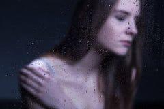 Depresja w nastolatka życiu zdjęcie stock