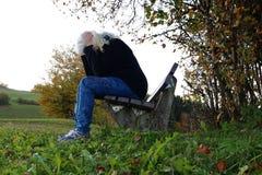 Depresja w spadku fotografia stock