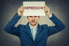 Depresja w twój głowie zdjęcia royalty free
