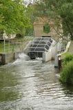 Depresji energii wodnej kierownicza roślina używać Archimedesowej śruby turbina Obrazy Royalty Free