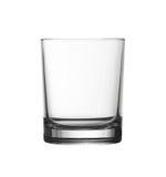 Depresji pusty szkło odizolowywający na bielu z ścinek ścieżką zdjęcia royalty free