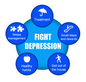 depresji walka ilustracji