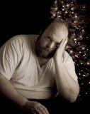 Depressão do feriado fotografia de stock