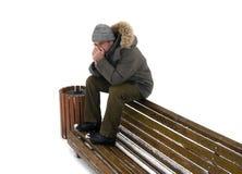 Depressão do inverno. isolado Fotos de Stock Royalty Free