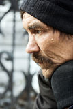 Depressão dos sem abrigo. Fotos de Stock