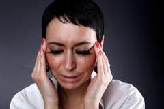 Depressão e dor de cabeça fotografia de stock