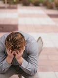 Depressão no trabalho Imagem de Stock