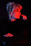 Depressed. Theatrical portrait of a styled sorrow actress. Shot in studio Stock Image