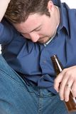 Depressed Alcoholic Man Royalty Free Stock Photos