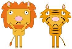 Depressed animals royalty free illustration