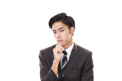 Depressed Asian businessman Royalty Free Stock Image