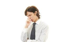 Depressed Asian businessman Stock Photos