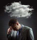 Depressed businesman stock image