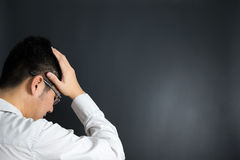 Depressed business man Royalty Free Stock Photography