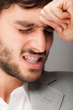 Depressed business man close up Stock Photo