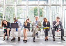 Depressed business people Royalty Free Stock Image