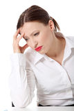 Depressed business woman Royalty Free Stock Images