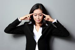 Depressed business woman Stock Photos