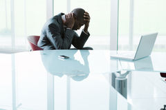 Depressed businessman Royalty Free Stock Photography