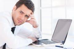 Depressed businessman. Royalty Free Stock Photo