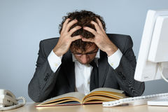 Depressed businessman Stock Images