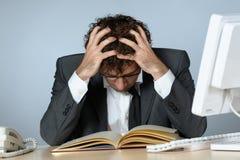 Depressed businessman. Horizontal image of depressed businessman Stock Images