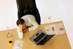 Depressed businessman Royalty Free Stock Photos