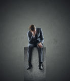 Depressed businessman Stock Photos