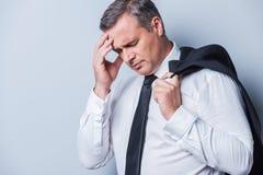 Depressed businessman. Stock Image