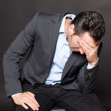 Depressed businessman Royalty Free Stock Images