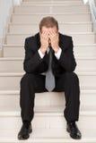 Depressed businessman. Royalty Free Stock Photos