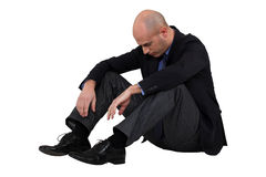 Depressed businessman Stock Image