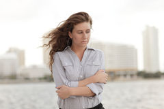 Depressed businesswoman Royalty Free Stock Image