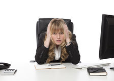 Depressed businesswoman at her wits end Royalty Free Stock Photography