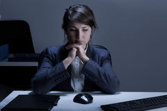 Depressed businesswoman Stock Photography