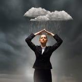 Depressed businesswoman Royalty Free Stock Photos