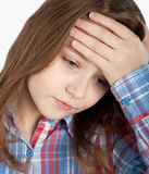 Depressed child Royalty Free Stock Photos