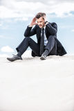 Depressed and confused businessman. Stock Images