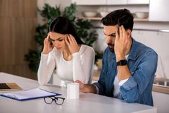 Depressed couple having troubles royalty free stock photo