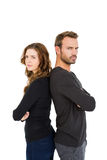 Depressed couple standing back to back Royalty Free Stock Photography