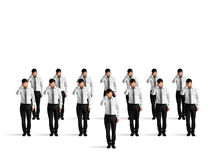 Depressed crowd of businessmen Stock Images