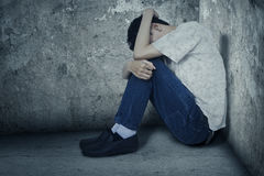 Depressed drug user Stock Images