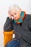 Depressed elderly woman Royalty Free Stock Images