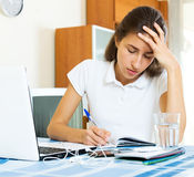 Depressed female college student Royalty Free Stock Photography