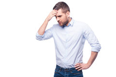 Depressed and frustrated. Stock Photos